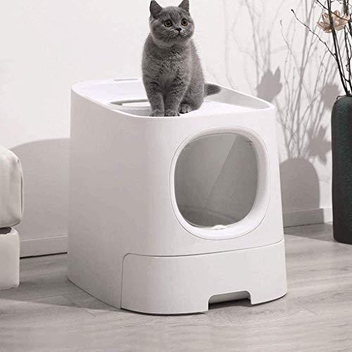 Trainingspad, kat wc uitwerpselen kat nest houden binnen slimme kat nest lade wc doos semi-gesloten automatische deodorisatie splash proof huisdier training wc doos zandbak
