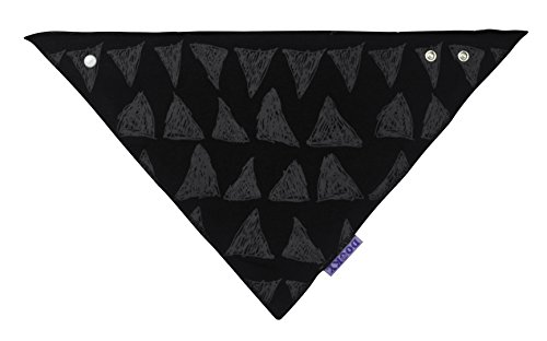 The Original Dooky Bavoir Bandana en coton, absorbant et réglable Grigio con Coroncine - Light Grey Crowns