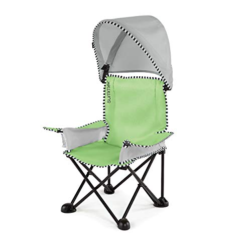 Summer Pop 'n Sit SE Big Kid Chair, Sweet Life Edition, Green Apple Color – Kids Folding Chair for Indoor/Outdoor Use – Fast, Easy and Compact Fold