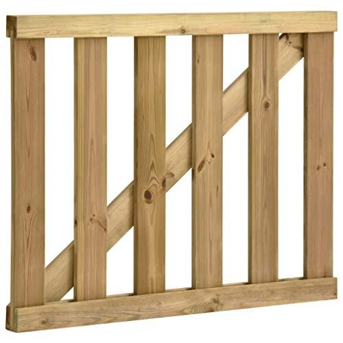 Festnight Cancello Steccato da Giardino Esterno in Legno di Pino Impregnato 150x100cm /100x120cm/100x80 cm Staccionata Recinzione