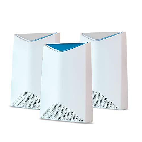 NETGEAR Orbi Pro Tri-Band Mesh WiFi System (SRK60B03) -- Router & Extender Replacement covers up to 7,500 sq. ft., 3 Pack, 3Gbps Speed Router & 2 Satellites