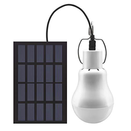 Solaire alimenté Ampoule Led - GreeSuit Portable USB Charge Lantern Lampe Spotlight Intérieur Bureau Cuisine Lecture avec Panneau Solaire pour Randonnée En Plein Air Camping Tente Pêche Éclairage