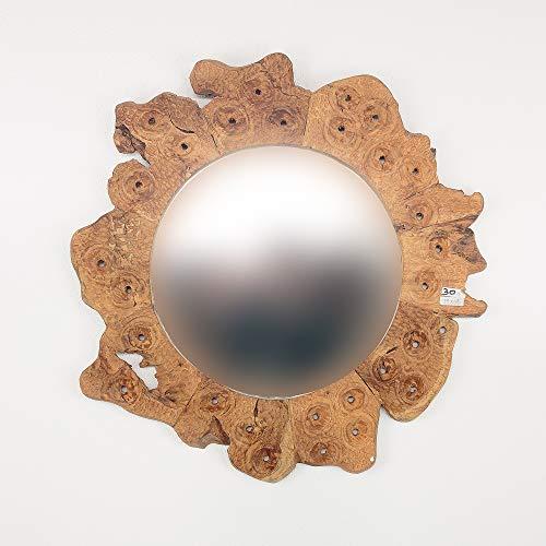 Rococo Espejo Redondo de Madera de Teca Surya de 65cm
