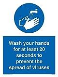 Cartello disinfettante in vinile con scritta in inglese 'Please use Hands'.