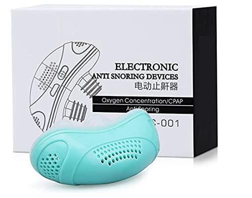 Alkyne Dispositivo antirronquidos de Ruido CPAP microeléctrico, tapón de Ayuda para Detener los ronquidos, purificador de Aire antirronquidos, Dejar de roncar (Verde)