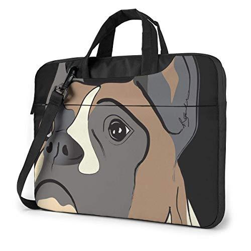 Cute Bulldog Laptop Sleeve Case Computer Tote Bag Shoulder Messenger Briefcase for Business Travel