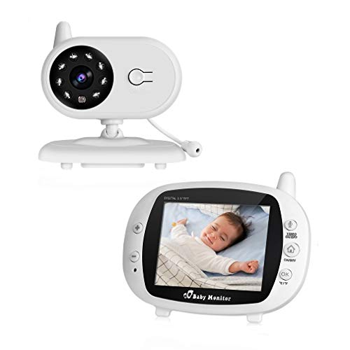Cozime Babyphone mit Kamera, Video Baby Monitor mit 3.5 Zoll HD Bildschirm, VOX, Nachtsichtkamera, Temperaturüberwachung
