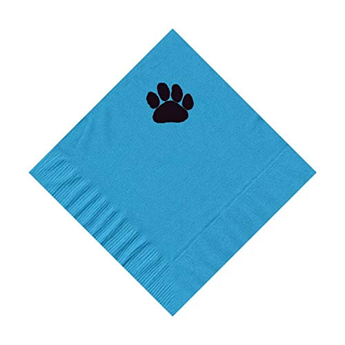 100 2-Ply Cocktail Personalized Napkins with Paw Print Logo