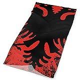 Jxrodekz Flagge Albanien Diadema Bandanas Cuello Polaina Bufanda de esquí