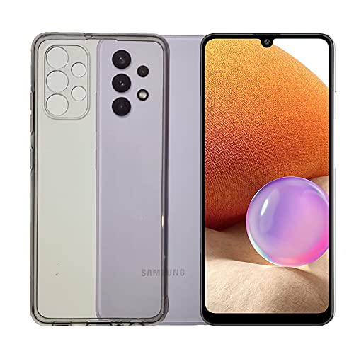 KEJI Carcasa para Samsung Galaxy A32 4G, de TPU suave, transparente, compatible con Samsung Galaxy A32 4G (6,4 pulgadas), funda blanda de silicona flexible
