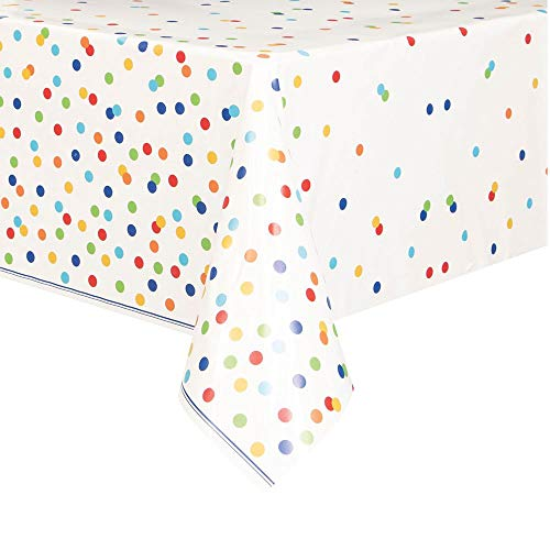 Unique Party 58253 party setting Table Cover, plastik, mehrfarbig