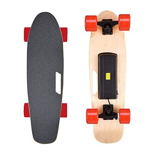 VOMI E-Skateboard Komplettboard 27Zoll, Action Elektro-Board, Skateboard Elektrisch mit Motor, E-Longboard Elektroantrieb Fernbedienung, Cruiser Erwachsene Komplettes Street Board,Rot