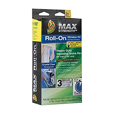 Duck Max Strength Roll-On Window Insulation Kits - Indoor, 62 in. x 120 in, 3-Count, Clear