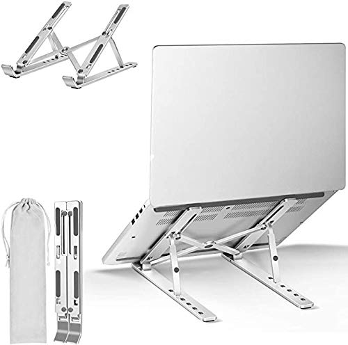 TourKing Laptop Stand Adjustable Laptop Riser Ergonomic Laptop Tray for Tablet & Laptop (10inch - 15.6inch) for iPad, for MacBook Pro/Air, Surface Laptop, Samsung, HP Notebook