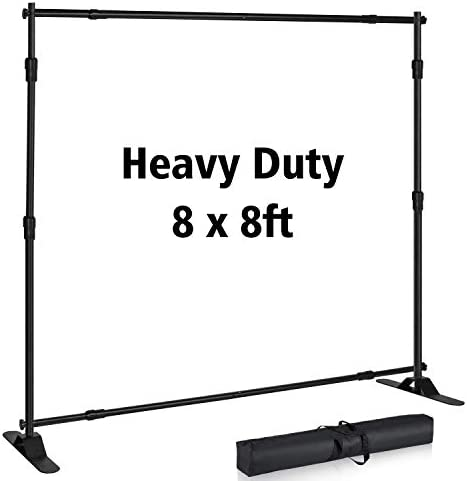 T SIGN 8x8 ft Backdrop Banner Stand Large Heavy Duty Professional Telescopic Step and Repeat product image