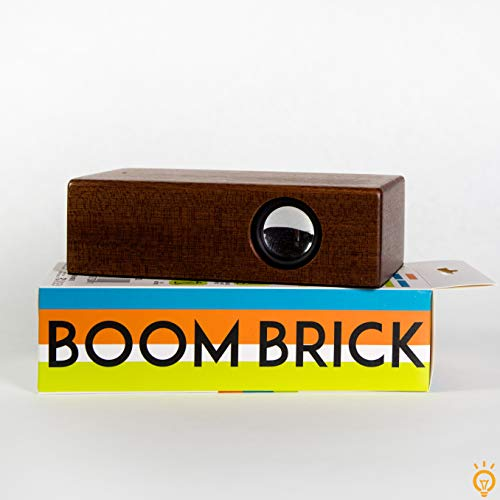 On Trend Goods Boom Brick Brown Portable Cell Phone Induction Speaker Play Music Anytime Anywhere