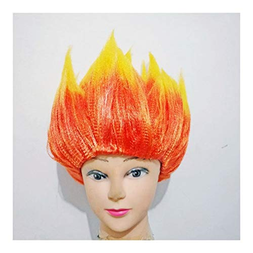 Super Saiyan Dragon Ball Sun Wukong Cosplay pruiken Cartoon Devil Flame Giant Trolls Head Wig for mannen