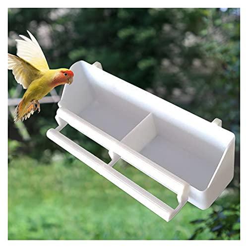 Comederos para pájaros, Alimentador de pájaros extraíble Alimentador de pájaros Colgante Alimento de agua Cuenco Palomas Soporte Cause Herramientas de alimentación Pájaro Alimento Contenedor Jaula Acc