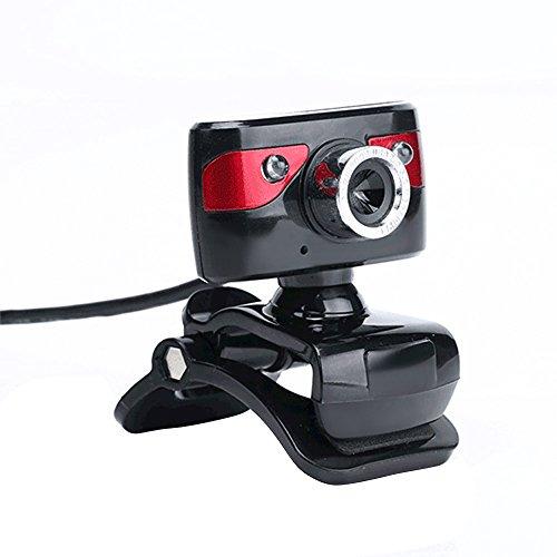 KKmoon USB 2,0 12 megapixel HD-camera webcam 360 graden met clip-on microfoon voor Skype Desktop Computer PC Laptop