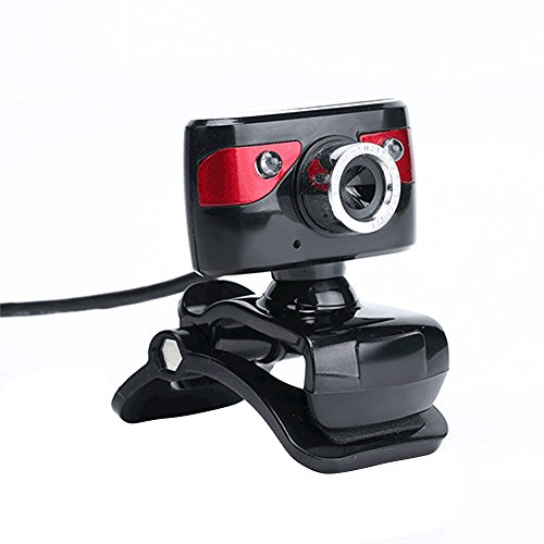 KKmoon USB 2,0 12 Megapixel HD-Kamera Webcam 360 Grad mit Clip-on Mikrofon für Skype Desktop Computer PC Laptop