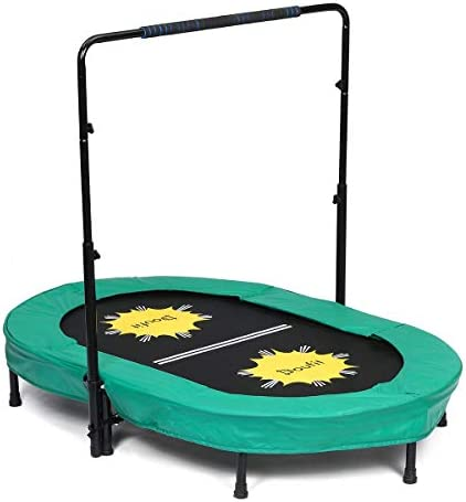 Trampoline for 2 Kids and Adults with Adjustable Handle Doufit TR 01 Double Jumping Fitness product image
