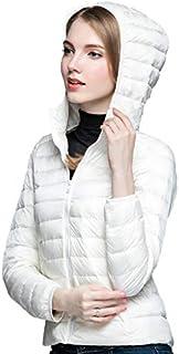 Sunseen Women's Lightweight Thin Puffer Jacket Hooded Packable Down Coat Spring Slim Outdoor Sports Travel Parka Outerwear