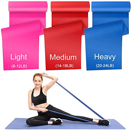 HAYSLAND Resistance Bands Set, 3 Pack Elastic Latex Sports Band, Physical Therapy Tension Band Recovery Band for Strength Training, Yoga, Pilates.