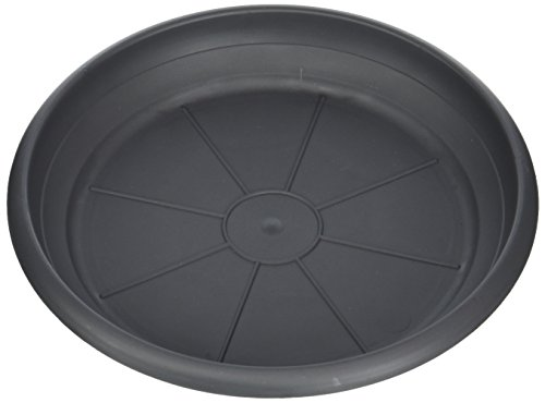 Scheurich Untersetzer aus Kunststoff, Metallic Grey, 20 cm Durchmesser, 2,7 cm Hoch Dessous de Verre, Gris métallisé, Ø