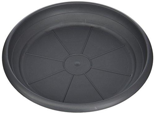 Scheurich Untersetzer aus Kunststoff, Metallic Grey, 20 cm Durchmesser, 2,7 cm hoch