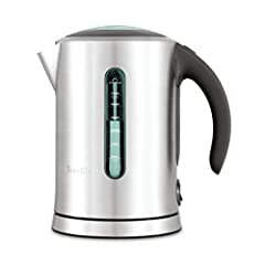 Soft grip ergonomic handle with lid release button for easy filling Soft opening cushion controlled lid with large viewing window prevents hot water splash back Dual water windows allow you to easily see how much water is in the kettle Large 1.7 lite...