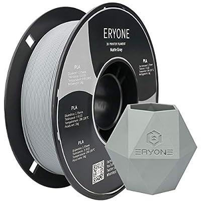ERYONE Matte PLA Filament 1.75mm ¡À0.03mm 3D Printer Pen Filament PLA Matte Finish 1kg/Spool £¨2.2 lbs) Matte Gray