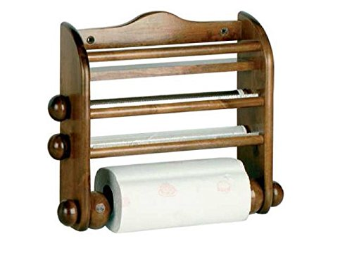 Calder Portarotolo in legno per Scottex, alluminio e pellicola
