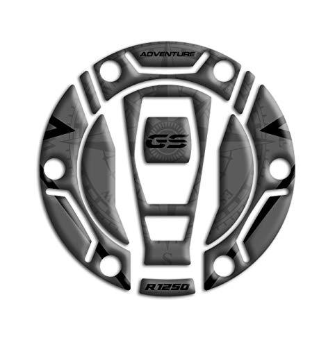 Tankdeckel-Schutz aus Harz, 3D, kompatibel mit BMW R 1250 GS Adventure 2021 GP-705 (Triple Black)