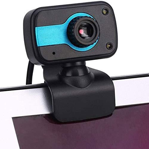 Cfilet 1PCS HD Webcam, cámara web USB for el ordenador portátil PC de escritorio con el micrófono de la computadora Webcams, CMOS cámara de vídeo digital de 360 grados de rotación clip de la Confere