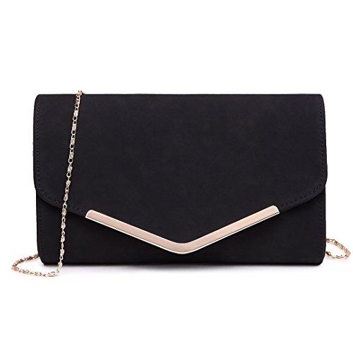 Miss Lulu Elegante Kettentasche Damen Tasche Clutch Bag Handtasche Hochzeit Abendtasche Umhängetasche Mädchen