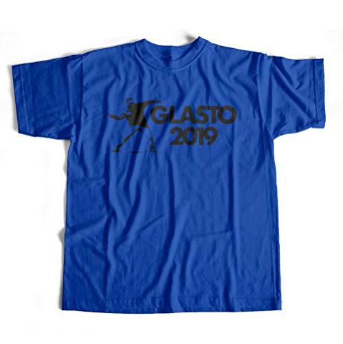 Dibbs Clothing Festival Street Art inspiriertes Bier Werfen Konzert Top T-Shirt Gr. XXL, blau