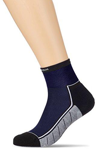 Hudson MOVE Herren-Socken, Lauf- und Wandersocken mit Wohlfühlbund, Herren Sportsocken mit atmungsaktiver Sohle (gepolstert, blau), Menge: 1 Paar