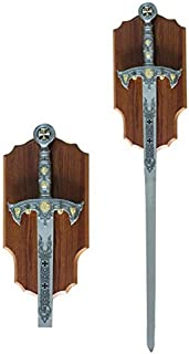Knights Templar Long Sword and Wall Plaque
