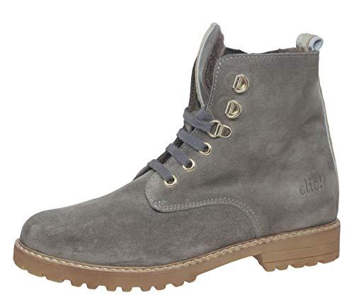 Clic! 9836 Stiefeletten Boots Leder Lammfell, Grau (Ceniza/te/Plata), EU 39