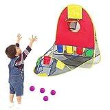 Tragbares Ballschießzelt mit 4 Bällen Kinder Spielen Zelt zusammenklappbares Spielhaus Kid...
