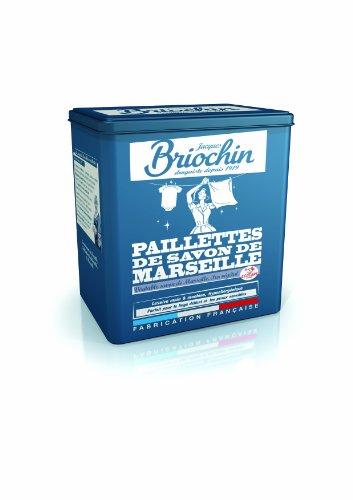 Jacques Briochin - BRI77 - Lessive - Paillettes de Savon de Marseille Boite Métal 750 g - Lot de 2