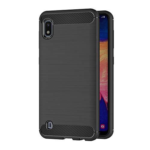 AICEK Cover Compatible Samsung Galaxy A10, Nero Custodia Samsung A10 Silicone Molle Black Cover per Galaxy A10 Soft TPU Case (6.2 Pollici)