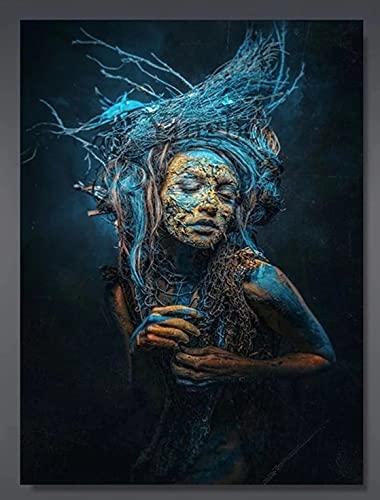 Semilla de Chucky, mosaico de diamantes 5D DIY bordado, pintura de diamante, película de terror manualidades, costura de costura, pintura de pared,