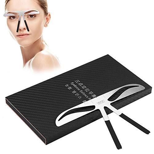 Règle à sourcils, Positionnement à trois points Microblading Grooming Shaper Règle Règle de pochoir à sourcils pour sourcils Enhancer Permanent Tattoo Eye (#1)