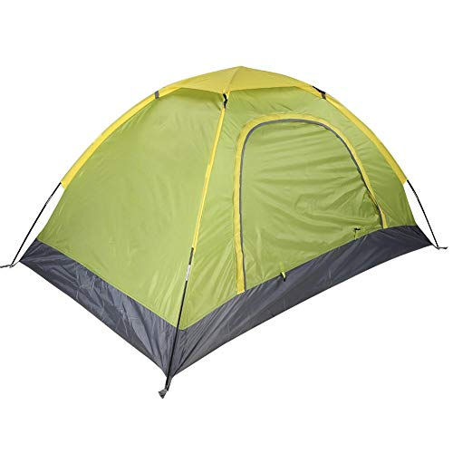 Naroote Camping Tent, Fiberglass Rod Orange and Green Portable Outdoor Tent, Exquisite Workmanship Humanized Field for Outdoor(green)