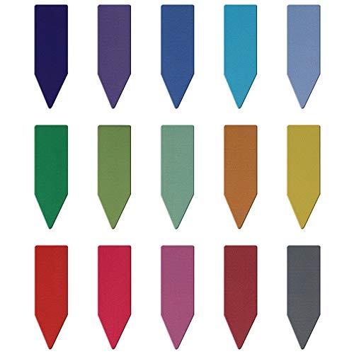 MWOOT 30 Stücke Pfeilförmig Magnetische Lesezeichen,Seiten Clips Lesezeichen,Bunt Magnete Seiten Buchmarkierungen Set für Studenten Büro Lesen Briefpapier (4.5x1.5cm)