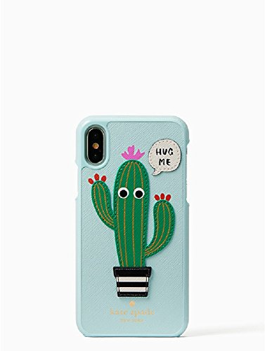 Kate Spade New York Hug Me Applique Leather Snap Case for iPhone X