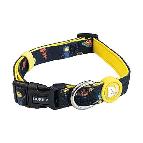 Dukier - Collar para Perro Ajustable y cómodo con Estampados Originales