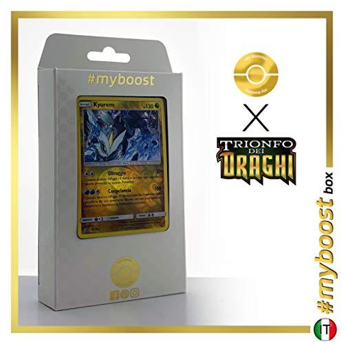 Kyurem 47/70 Holo Reverse - #myboost X Sole E Luna 7.5 Trionfo dei Draghi - Box di 10 Carte Pokémon Italiane