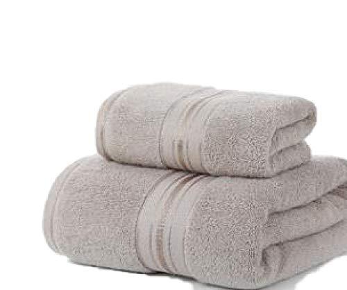 2 Piezas / Juego de baño de algodón 100% Toalla de baño Rectangular Toalla de Cara de Color Puro Adulto doméstico Shower-3_70x140cm 32x72cm